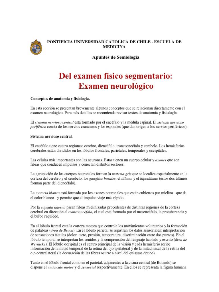 Examen neurológico - Semiología