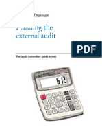 GT - Planning The External Audit