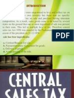Central Sales Tax Ppt