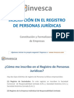 Inscripcion en El Registro de Personas Juridicas