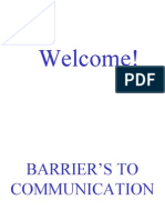 Barriers to Communicationsv6