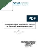 Guide Pratique Pour La Constitution Des ONG en RDC - DRAFT