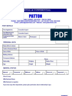 Patton - Cv Form