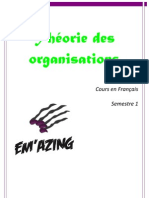 Cour de Theorie Des Organ is at Ions