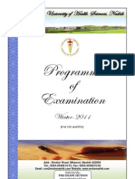 Programme Exam Winter 11 Ugpg 160811