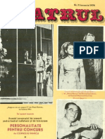Revista Teatrul, nr. 1, anul XIX, mai 1974