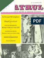 Revista Teatrul, nr. 9, anul XIX, septembrie 1974