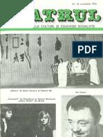 Revista Teatrul, nr. 10, anul XIX, octombrie 1974