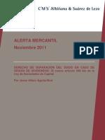 20111107 Alerta Derecho de Separacion Reparto Dividendos