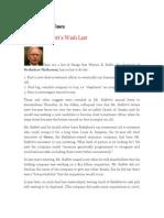 Warren Buffett's Wish List