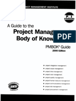 PMBOK - Guide to the Project Management Body of Knowledge