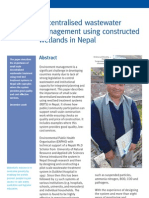 Decentralised Waste Water Management Using Constructed Wetlands in Nepal