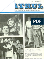 Revista Teatrul, nr. 2, anul XX, februarie 1975