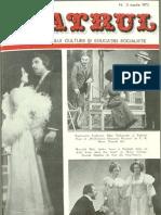 Revista Teatrul, nr. 3, anul XX, martie 1975