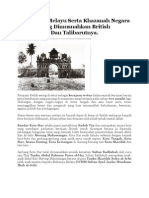 Kota Kota Melayu Yang Di Musnahkan British