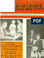 Revista Teatrul, nr. 1, anul XXI, ianuarie 1976