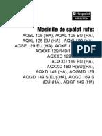 Manual Pt Masini de Spalat AQX AQS AQGMD 169