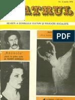 Revista Teatrul, nr. 3, anul XXI, februarie 1976