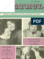 Revista Teatrul, nr. 4, anul XXI, aprilie1976