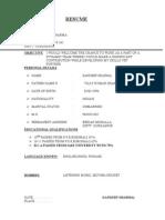Resume Personal (