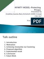 k-Anonymity model