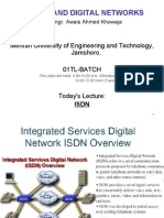 Lec21 22 ISDN Lecture
