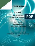 Group III Factor Group