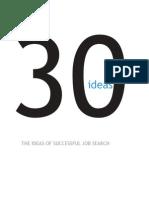 30 Ideas the Ideas of Successful Job Search