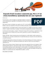 Enquanto Brasil reconhece casamento gay, PB é o 1º em crimes homofóbicos; Queimadas tem um caso registrado