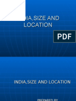India,Size and Location