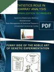 Biostatistics Role in Microarray Analysis