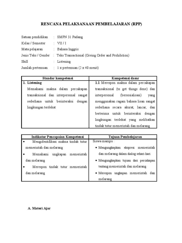12 Contoh Soal Bahasa Inggris Command And Prohibition Kumpulan Contoh Soal