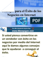 Consejos para el Éxito de los Negocios en Internet