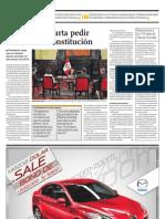 Humala descarta pedir cambio de Constitución