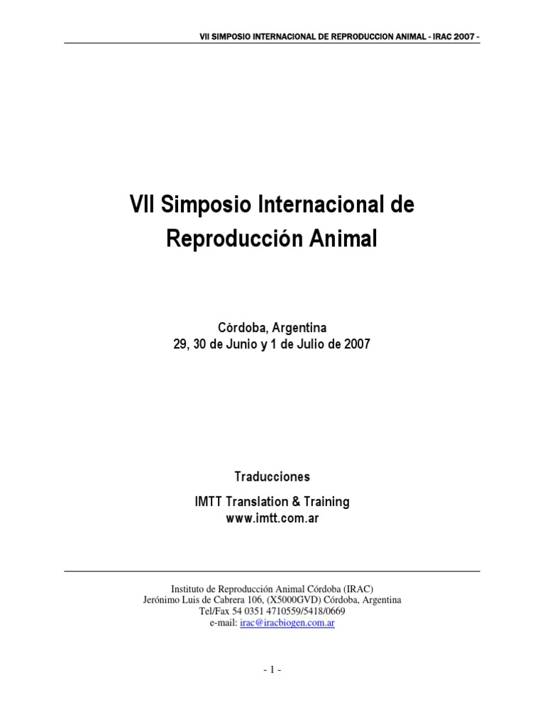 Simposio Internacional de Reproducción Animal
