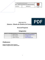 Proyecto Saturno - APR Acta de Proyecto