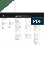 Cheat Sheet - VWD Toolbar and Menus