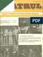 Revista Teatrul, nr. 4 anul XXII, aprilie 1977