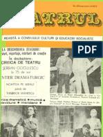Revista Teatrul, nr. 9 anul XXII, septembrie 1977