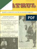 Revista Teatrul, nr. 10, anul XXII, octombrie 1977
