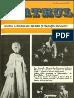 Revista Teatrul, nr. 11, anul XXII, noiembrie 1977