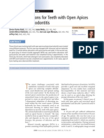 Treatment Options for Teeth With Open Apices and Apical Period on Tit Is