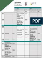 Programação Geral do V Seminário de Estudos em Educação e Linguagem