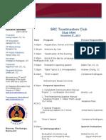 Program 9 Nov 2011