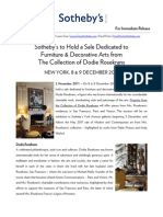 Property From the Collection of Dodie Rosekrans - Sotheby's New York, 8+9 December 2011