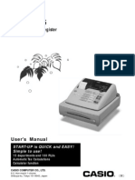 Manual for Casio PCR-T265 Cash Register