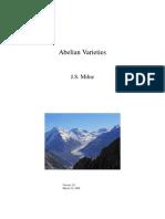 Abelian Varieties