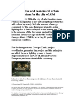 An Innovative and Economical Urban Lighting System for the City of Albi