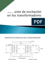 Corriente de excitación en los transformadores
