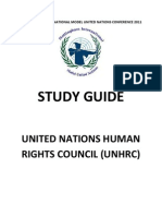 UNHRC Study Guide